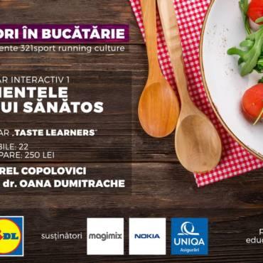 """Pregătiți cuțitele și pofta de învățat: pe 13 ianuarie gătim la """"Alergători în bucătărie"""""""