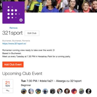 Hai în clubul 321sport pe Strava!