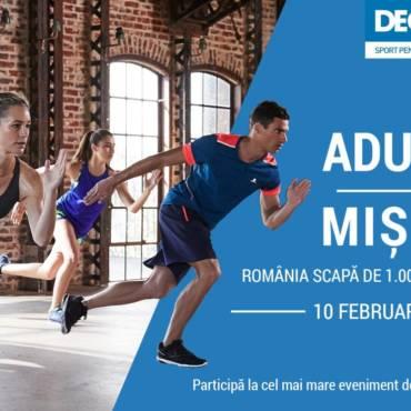 """""""Adunare pentru mișcare"""": hai pe 10 februarie să lăsăm România fără 1.000.000 de calorii!"""