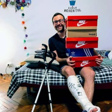 #JurnalDeRecuperare 3: pantofii sunt inutili, am nevoie de orteză pentru fractură!