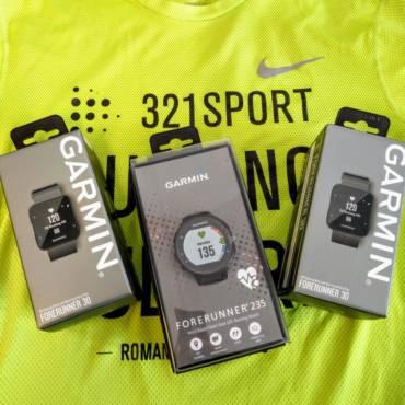 Sportivii 321sport pot testa ceasurile Garmin Forerunner 30, 35 și 235!