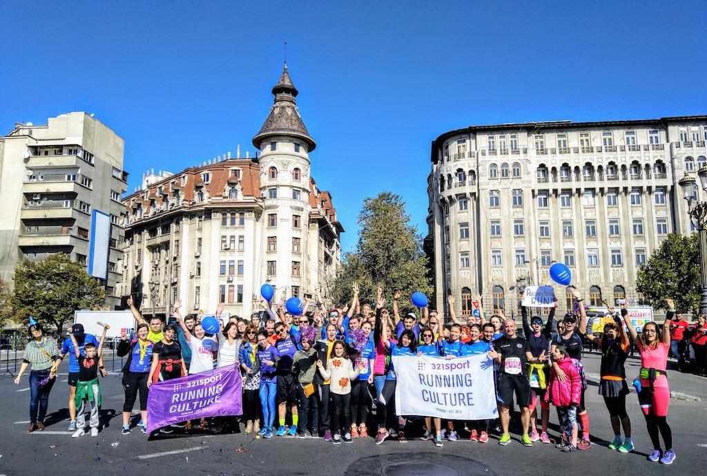 Program 321sport la Bucharest Half Marathon 2019: alergători și cheering point