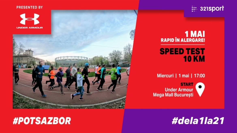 1 mai rapid în alergare! Speed test 10KM: #PotSaZbor #dela1la2