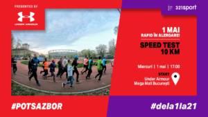 1 mai rapid în alergare! SPEED TEST 10KM: #POTSAZBOR #dela1la21 @ Under Armour Mega Mall