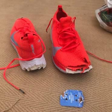 """#RunningCulture: A terminat London Marathon cu pantofii """"mâncați"""" de câine"""