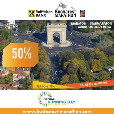 Sărbătoare de Global Running Day: 50% reducere la Bucharest Marathon!