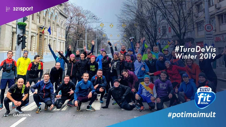 Video #TuraDeVis Winter Edition 2019: am alergat 61,1 KM de la răsărit până la apus!