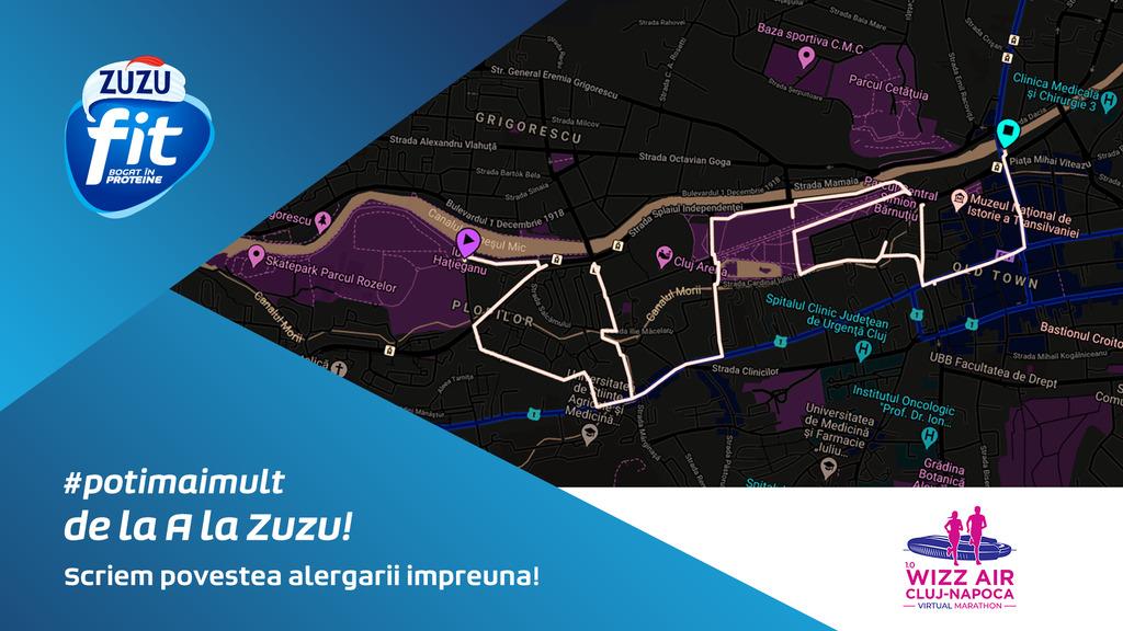 Scriem povestea alergării cu Zuzu Fit la ediția virtuală a Cluj Marathon 2020!